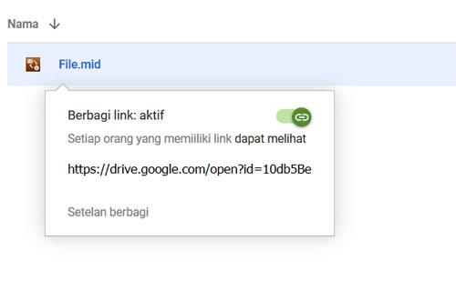 Aktifkan Fitur Berbagai Google Drive