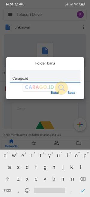 Beri Nama Folder