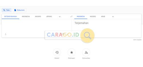 Buka Google Translate