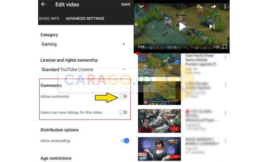 Cara Aktifkan Komentar di Youtube Lewat HP