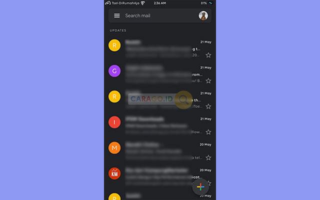 Membuka Aplikasi Gmail