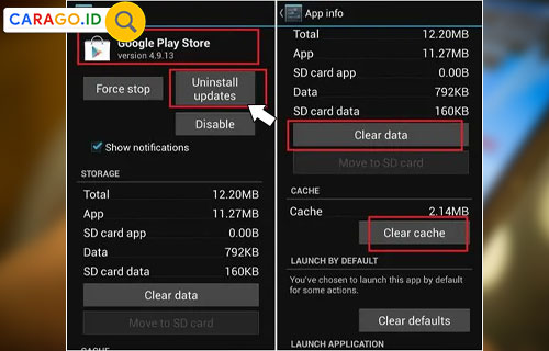 Uninstal dan Instal Ulang PlayStore