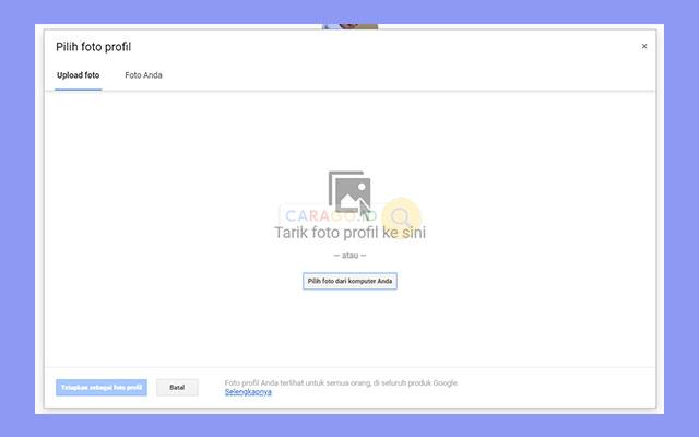 klik foto profil