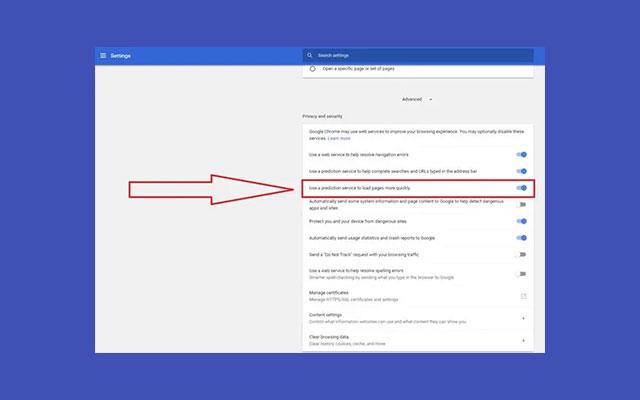 Aktifkan Chrome Prefetch