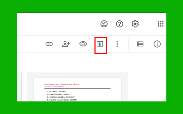 Cara Hapus File Video di Google Drive PC