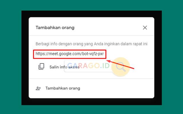 Copy Link dan Bagikan