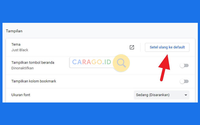 Cara Menghapus Tema Google Chrome PC