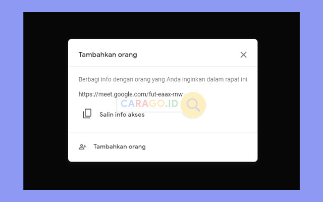 Invite Google Meet Lewat Link
