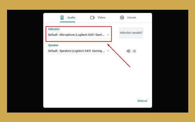 Panduan Cara Menyalakan Mic Google Meet Pada Laptop
