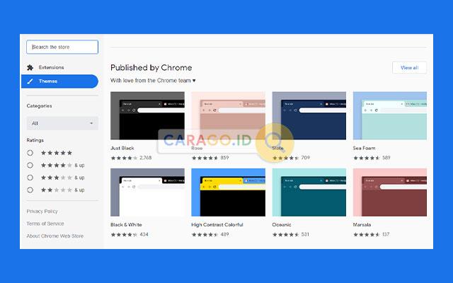Pilihan Tema Google Chrome