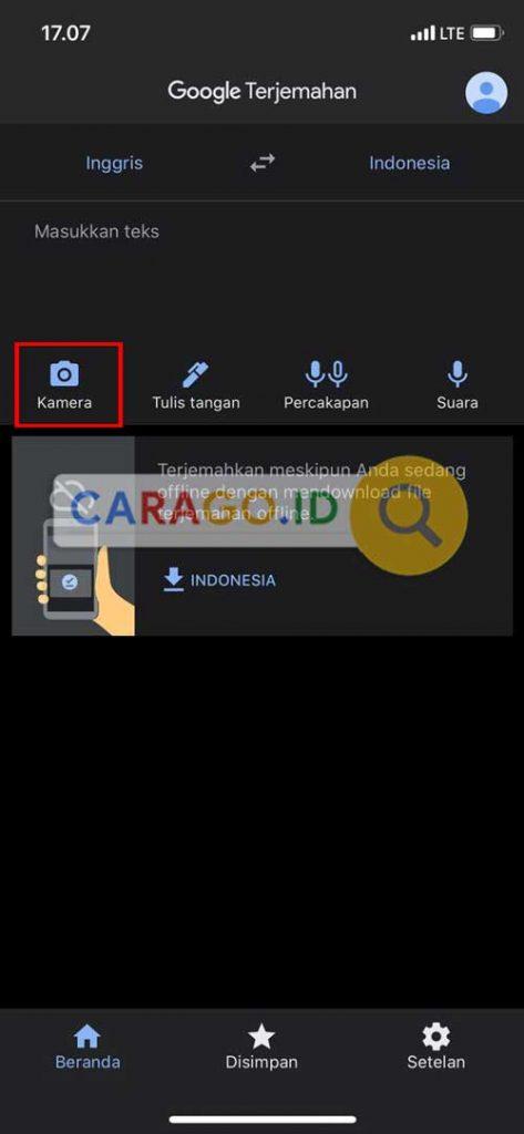 Pilih Ikon Kamera