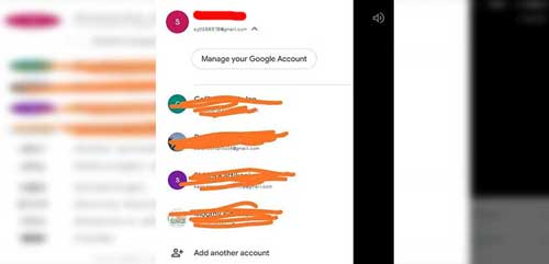 Pilih Manage Your Google Account