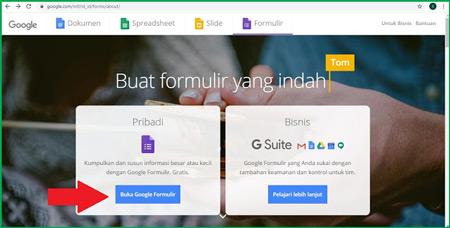 1 Buka Halaman Google Form