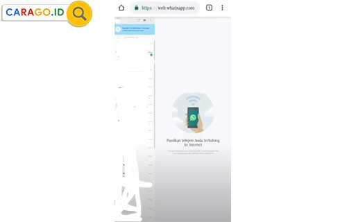 7. Setelah itu aplikasi Google Chrome akan memunculkan semua pesan chat Whatsapp yang ada di aplikasi Whatsapp HP pasangan kamu