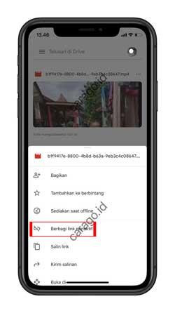 Aktifkan Share Link