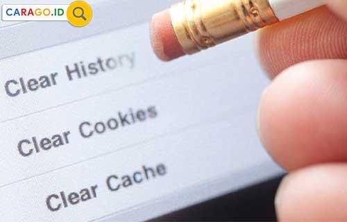 Hapus Cache dan Cookies