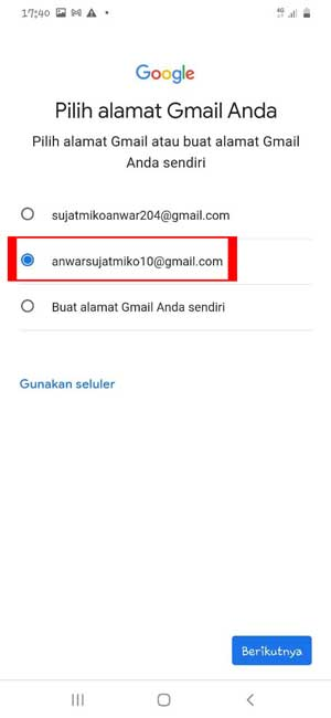 Rekomendasi Alamat Gmail