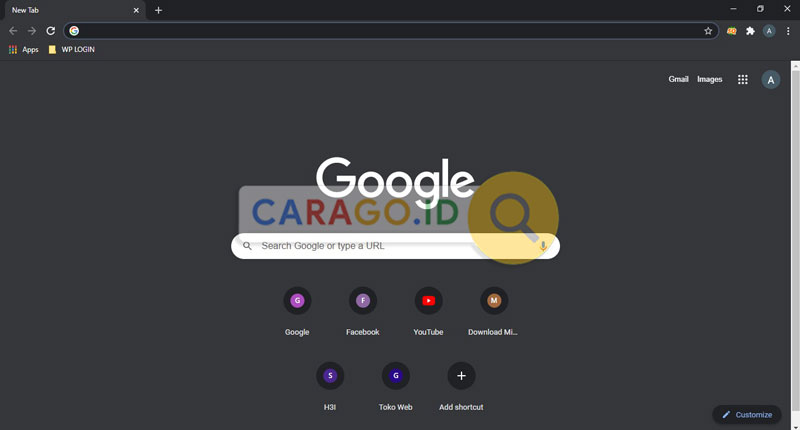 Buka Google Chrome di PC