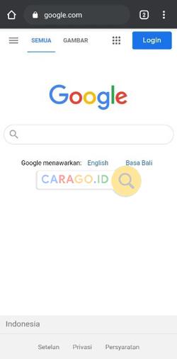 Buka aplikasi Google Chrome Andorid