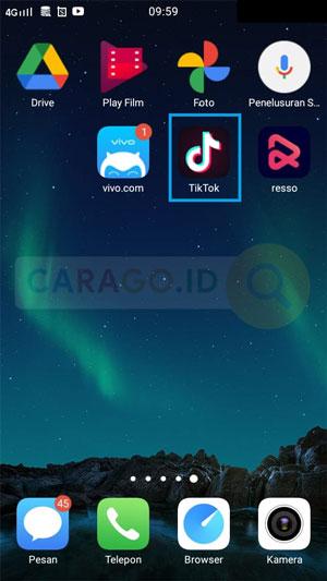 Pertama Buka Aplikasi TikTok
