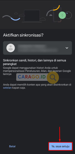 Aktifkan Sinkronisasi Chrome