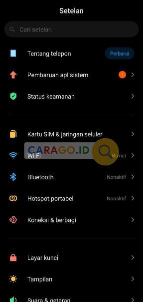 Buka Pengaturan HP Android