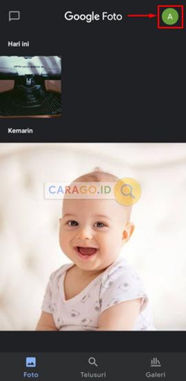 Ketuk Foto Profil Untuk Cara Back Up Foto