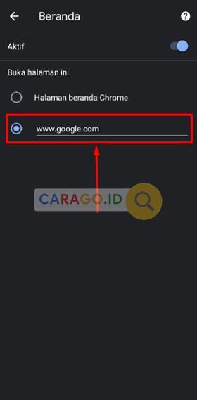 Masukkan Situs Google Android