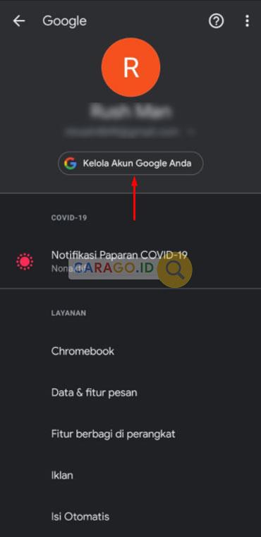 Cara Mengubah Bahasa, Pilih Akun Google