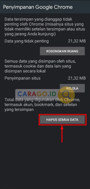 Restore Google Chrome Android