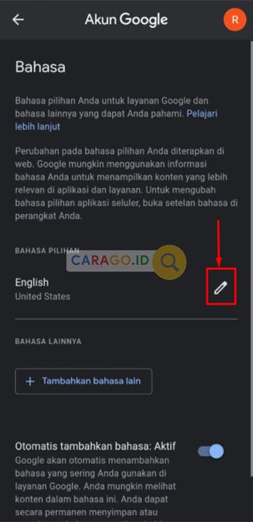Tentukan Bahasa Indonesia