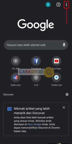 Buka Google Chrome di HP Android