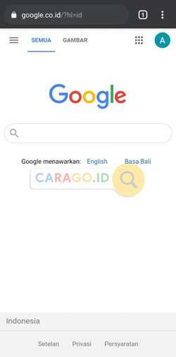Jalankan Google Chrome Android