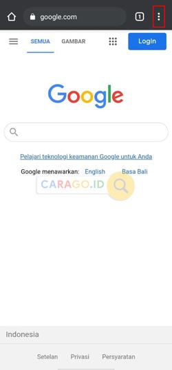 Buka Aplikasi Google Chrome Android