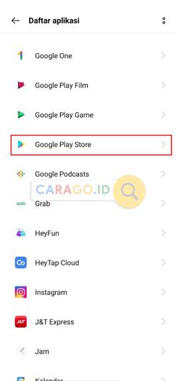 Cari Google Play Store