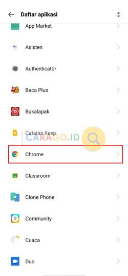 Carilah Aplikasi Chrome